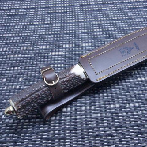 Нож с фиксированным клинком Muela Sarrio, сталь X50CrMoV15, рукоять олений рог. Вид 3