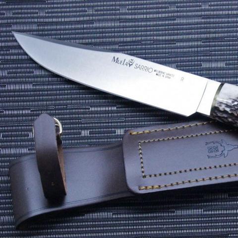 Нож с фиксированным клинком Muela Sarrio, сталь X50CrMoV15, рукоять олений рог. Вид 5