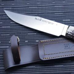 Нож с фиксированным клинком Muela Sarrio, сталь X50CrMoV15, рукоять олений рог, фото 5