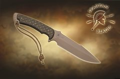 Нож с фиксированным клинком Horkos (Flat Dark Earth/Green Micarta/Multicamo Sheath) 14.5 см.