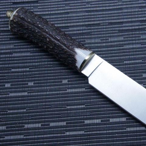 Нож с фиксированным клинком Muela Sarrio, сталь X50CrMoV15, рукоять олений рог. Вид 6