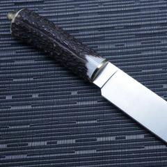 Нож с фиксированным клинком Muela Sarrio, сталь X50CrMoV15, рукоять олений рог, фото 6