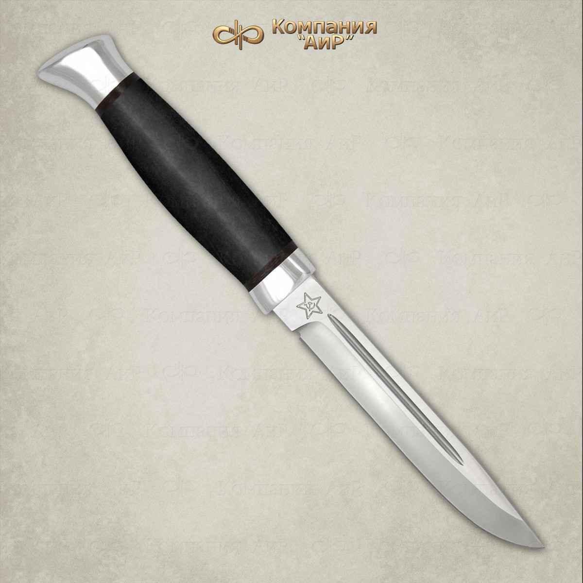 Нож разделочный АиР Финка-3, сталь Elmax, рукоять граб нож финка нквд сталь elmax граб мельхиор