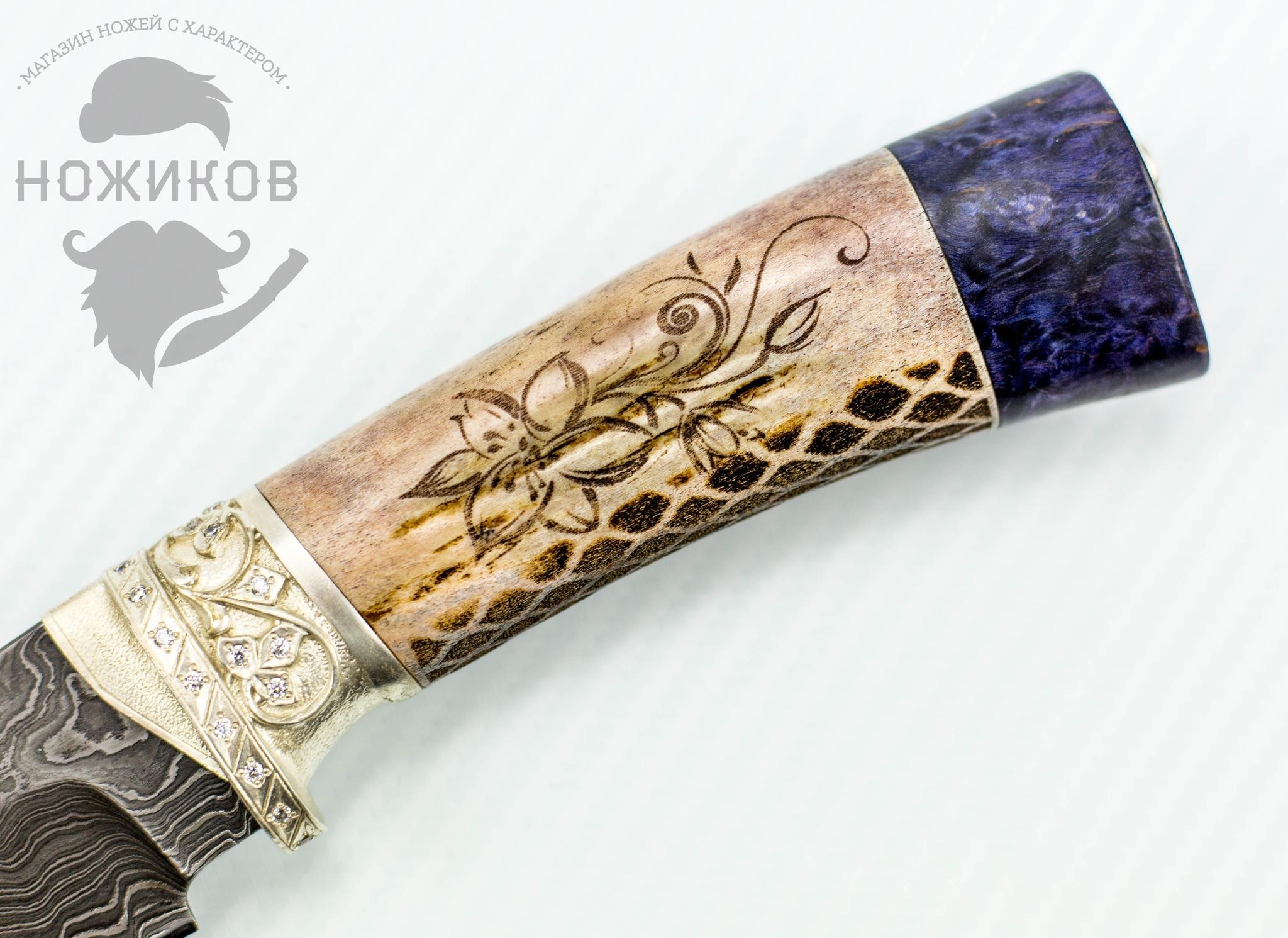 Фото 10 - Авторский Нож из Дамаска №83, Кизляр от Noname