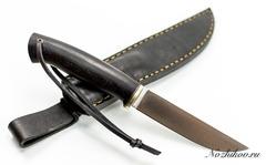 Нож Лиман, клинок-ламинат 50х14МФ x ELMAX , черный граб
