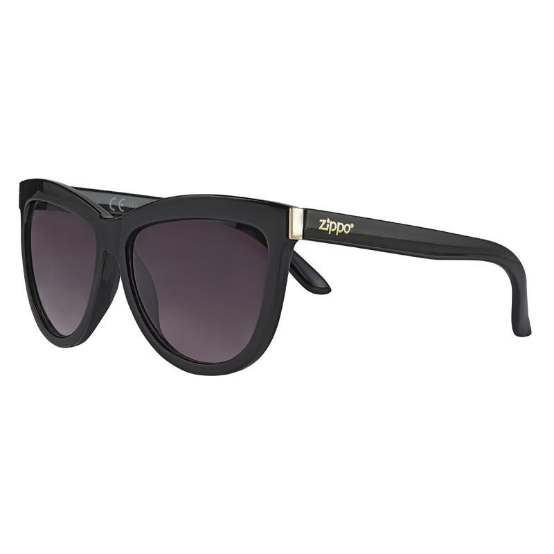 Фото - Очки солнцезащитные ZIPPO OB67-01, чёрные, оправа, линзы и дужки из поликарбоната очки солнцезащитные zippo ob70 01 унисекс чёрные оправа из поликарбоната