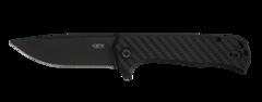 Нож складной Todd Rexford Design KVT® Flipper, DLC-coated Titanium / Carbon Fiber Handle, DLC-coated Blade