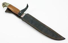 Нож Пластунский Казачий, сталь 95х18, рукоять орех, фото 6
