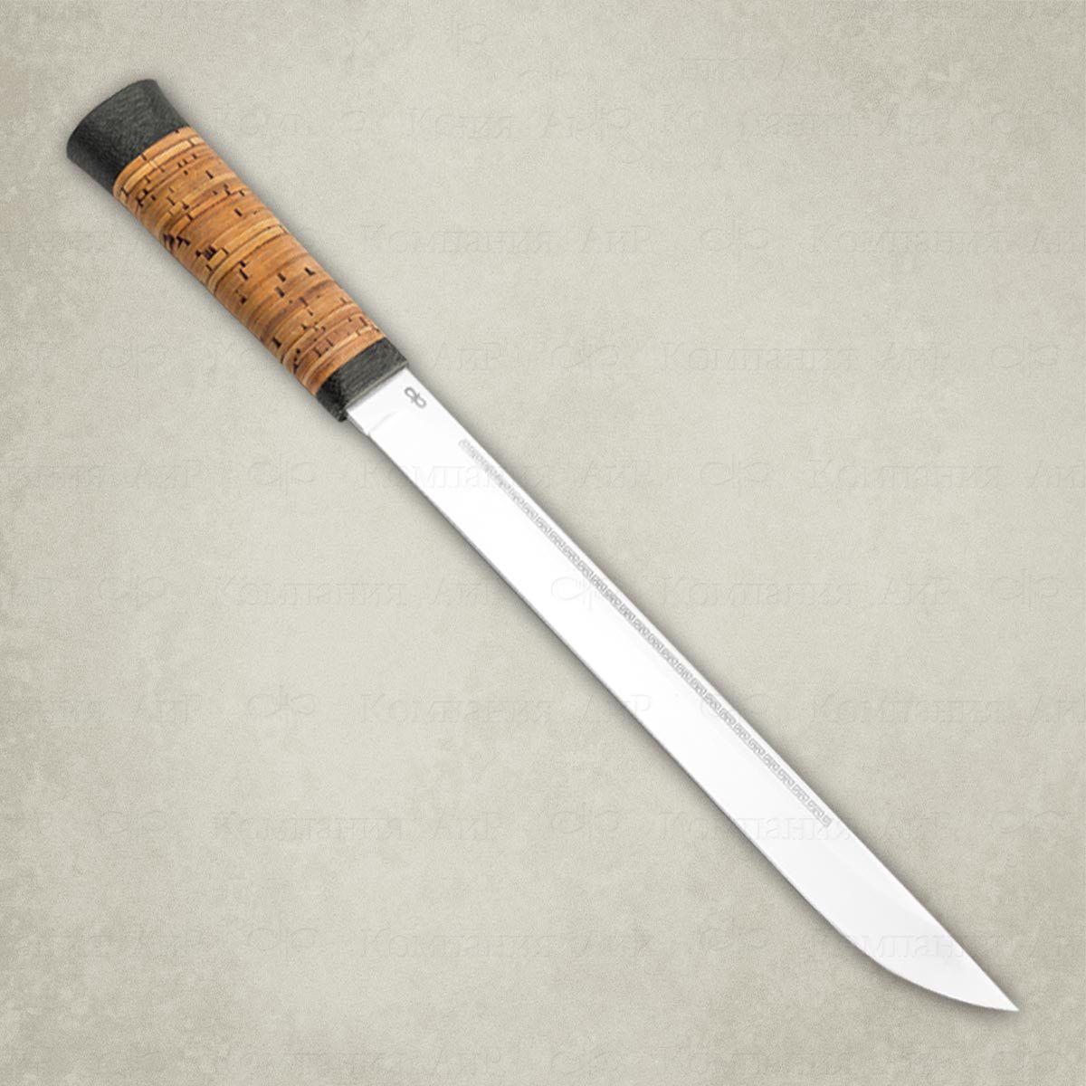 Нож АиР Бурятский большой, сталь 95х18, рукоять береста