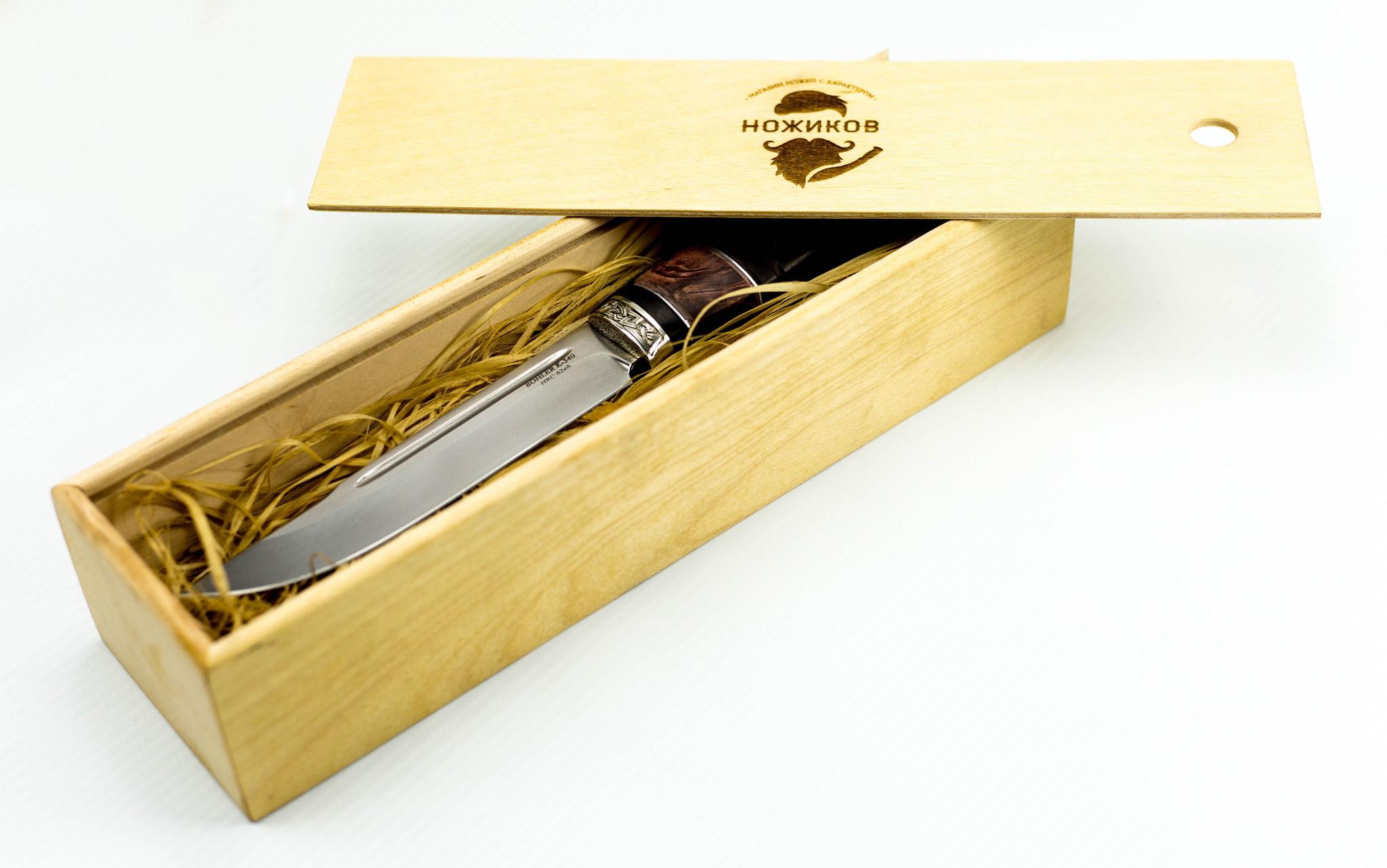 Подарочная коробка для ножей, береза