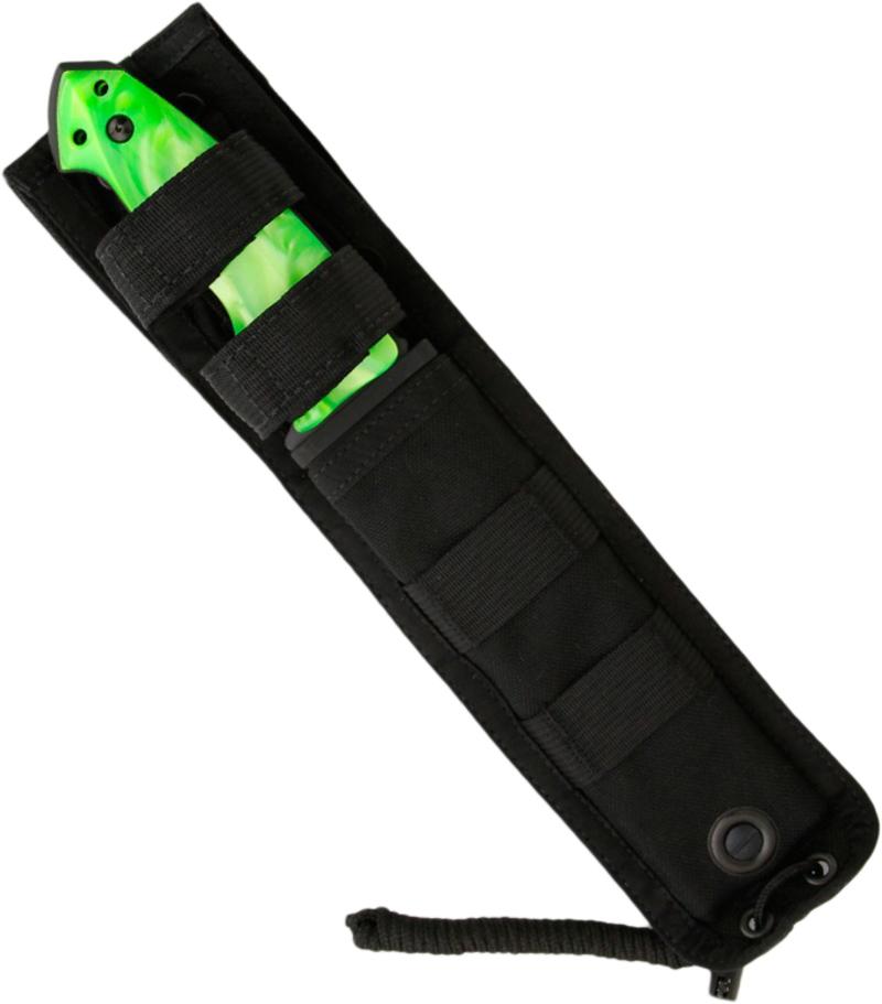 Фото 5 - Нож с фиксированным клинком ZX-F01 Zombie-X 13.97 см, сталь A2 Tool Steel, рукоять CPL сomposite (имитация перламутра) от Hogue