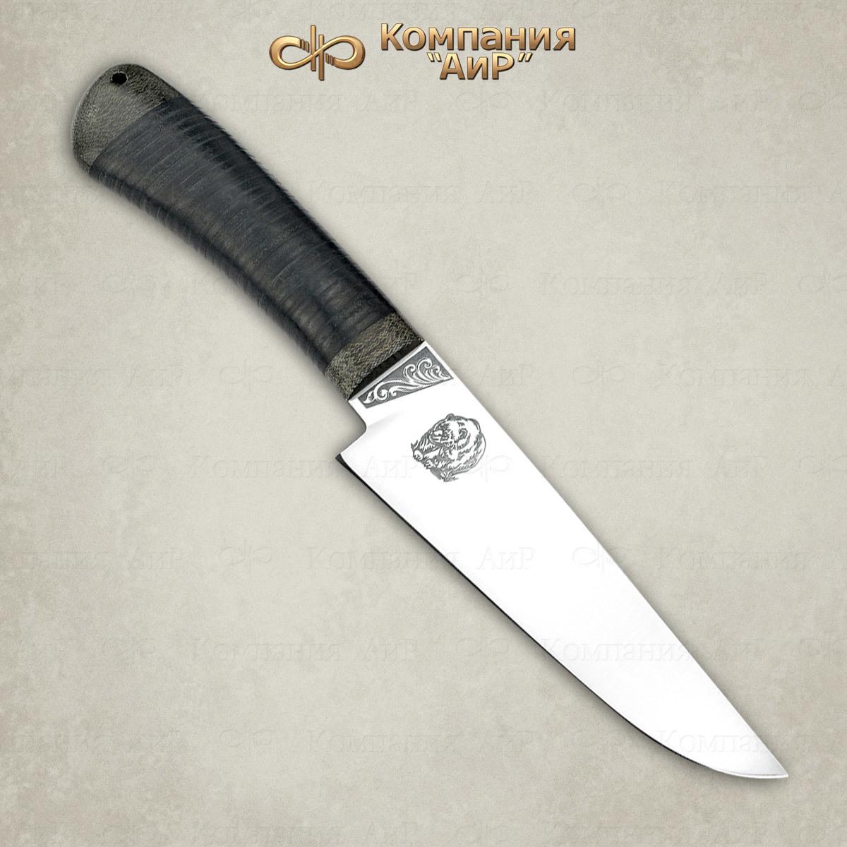 Нож Барибал 95х18, кожа, АиР нож барибал 95х18 орех аир