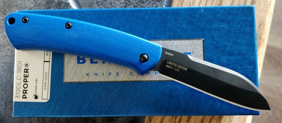 Фото 5 - Складной нож Benchmade 319DLC-1801 Proper Limited Edition, сталь CPM-S30V, рукоять G10