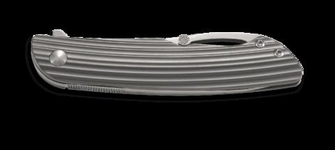 Складной нож CRKT Swindle™, сталь 12C27 Sandvik, рукоять нержавеющая сталь