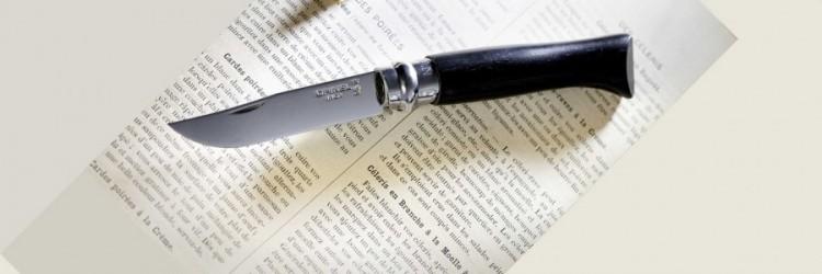 Фото 4 - Нож складной Opinel №8 Ebony, сталь Sandvik™ 12С27, рукоять африканское дерево, 002015