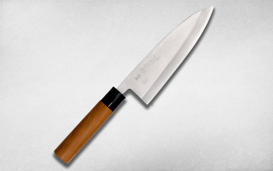 Нож кухонный Деба 195 мм, Masahiro, 16208, сталь Ки Гами, магнолия, коричневый
