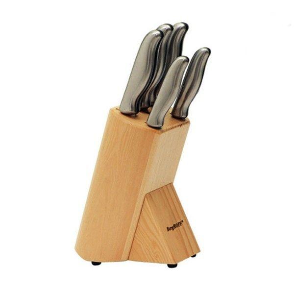 Набор ножей Essentials BergHOFF, 6 приборов, 1307143, сталь X30Cr13, сталь подставка для приборов nuova r2s высота 19 см