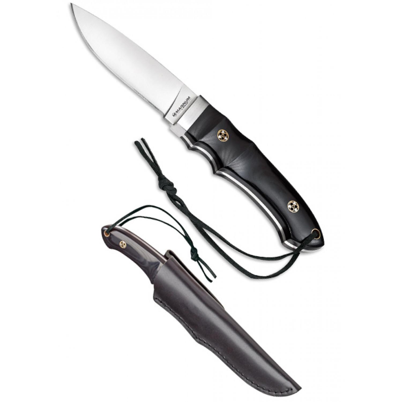 Фото 4 - Нож с фиксированным клинком Magnum Trail - Boker 02SC099, сталь 440A Satin, рукоять микарта, чёрный