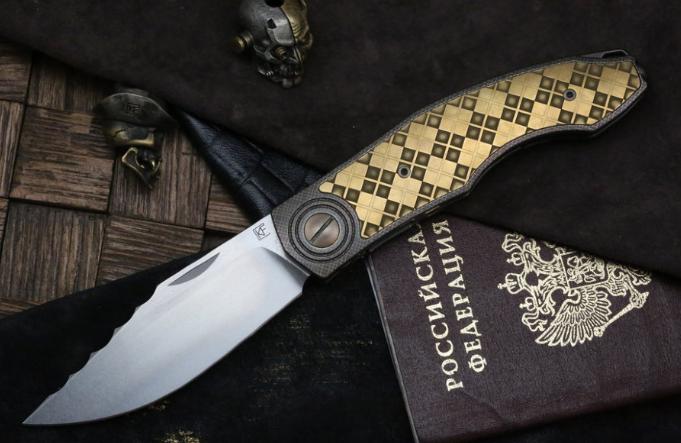 Складной нож CKF Makosha (Belka) KVAD, сталь M390, рукоять Titanium