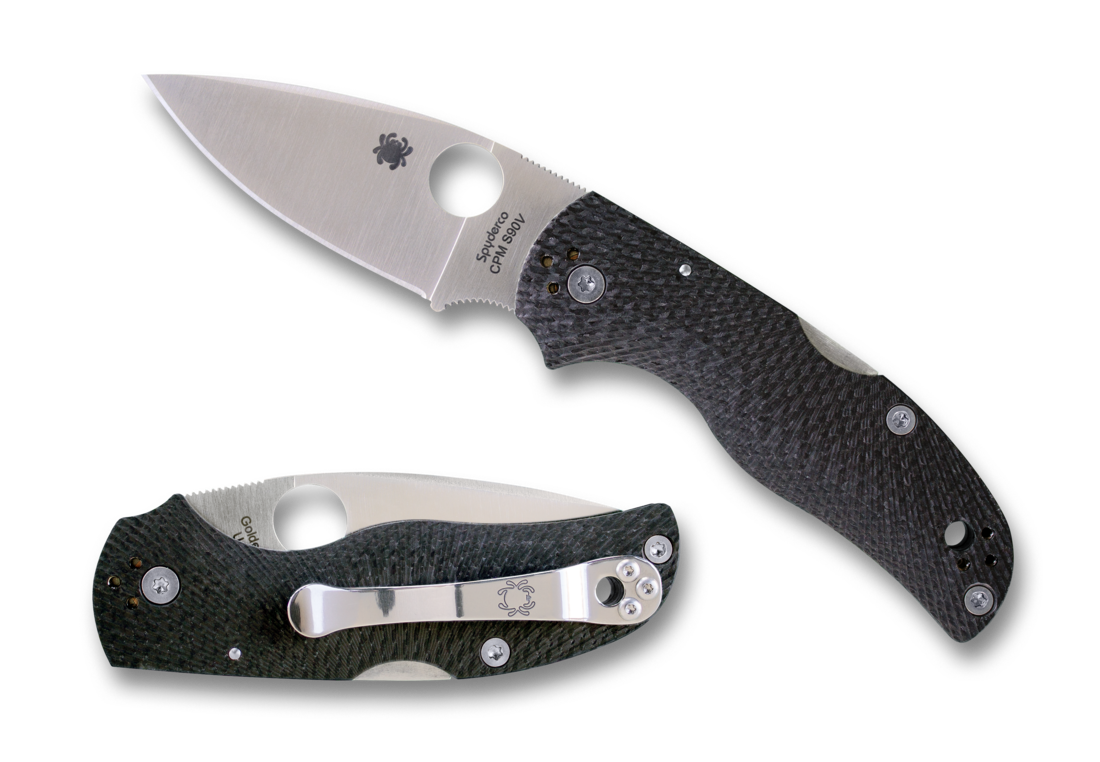 Складной нож Spyderco Native 5, CPM S90V, Carbon Fiber автоматический складной нож launch 5 dlc coated crucible cpm® 154 blade red aluminum handles emerson design