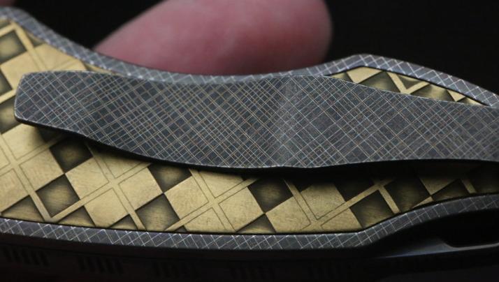 Фото 3 - Складной нож CKF Makosha (Belka) KVAD, сталь M390, рукоять Titanium от Custom Knife Factory