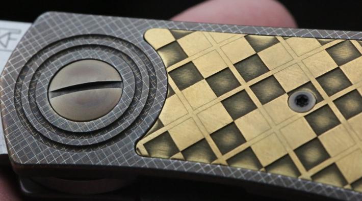 Фото 4 - Складной нож CKF Makosha (Belka) KVAD, сталь M390, рукоять Titanium от Custom Knife Factory