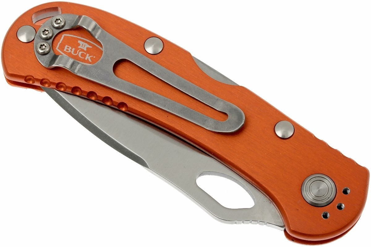 Фото 6 - Нож складной 722 Spitfire™ - BUCK 0722ORS1, сталь 420HC, рукоять алюминий, оранжевый