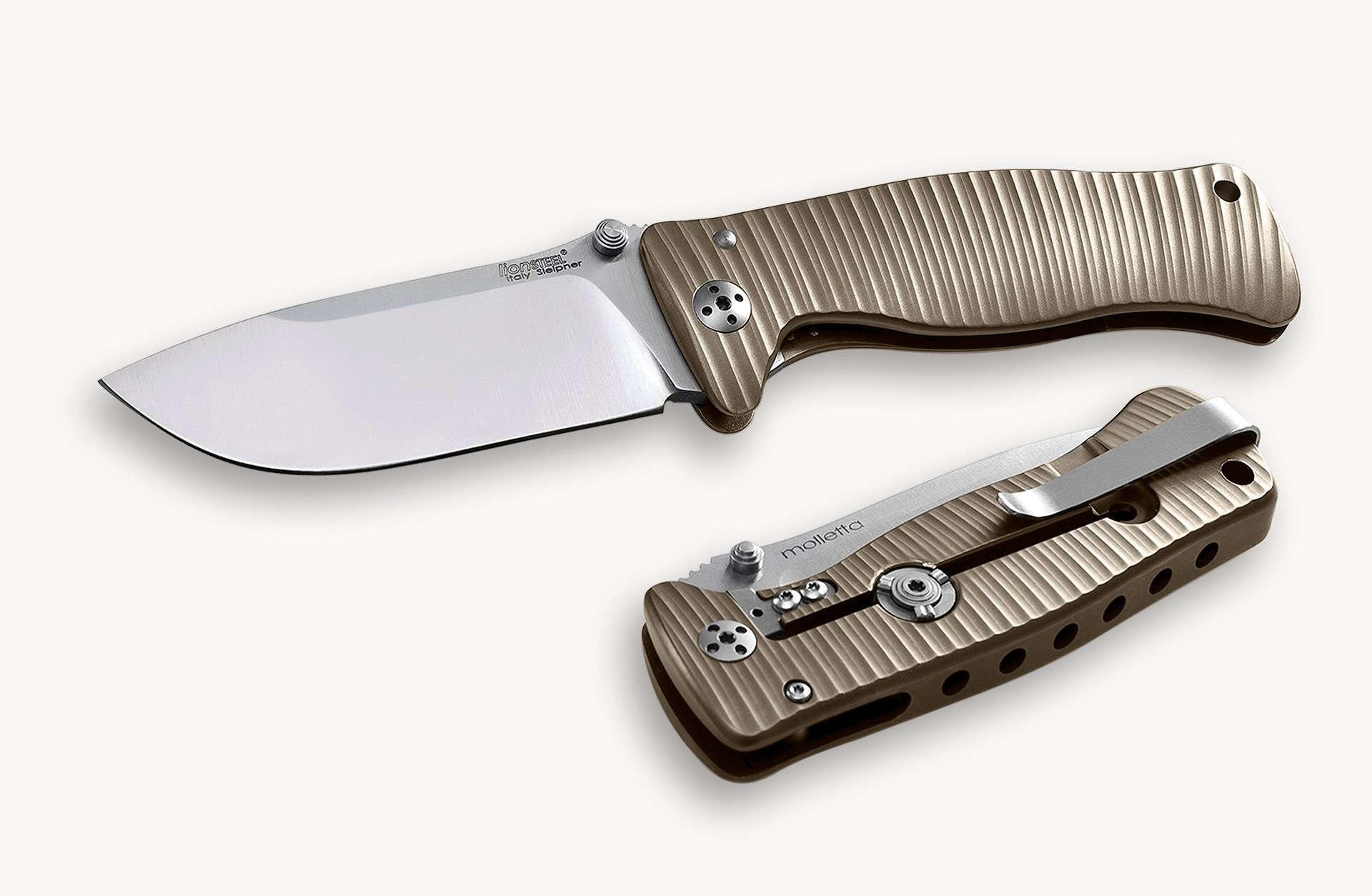 Фото 9 - Нож складной LionSteel SR1 B, сталь Uddeholm Sleipner, рукоять титан от Lion Steel