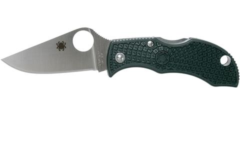Нож складной ManBug Spyderco MGREP, сталь ZDP-189 Satin Plain, рукоять термопластик FRN, (British Racing Green) зелёный