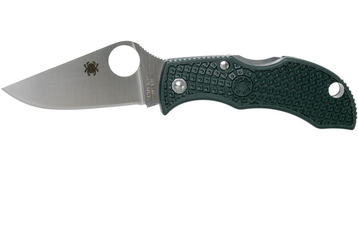 Фото 8 - Нож складной ManBug Spyderco MGREP, сталь ZDP-189 Satin Plain, рукоять термопластик FRN, (British Racing Green) зелёный