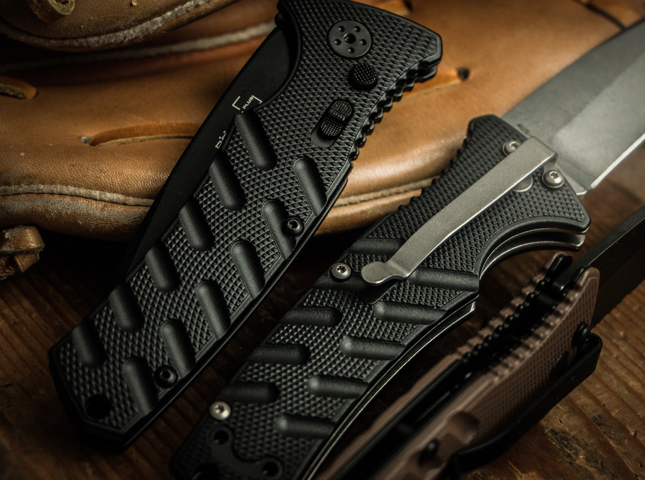 Фото 12 - Полуавтоматический складной нож Boker Plus Strike Spearpoint, сталь AUS-8 StoneWash Plain, рукоять анодированный алюминий, BK01BO400