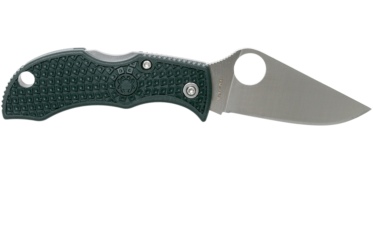 Фото 9 - Нож складной ManBug Spyderco MGREP, сталь ZDP-189 Satin Plain, рукоять термопластик FRN, (British Racing Green) зелёный