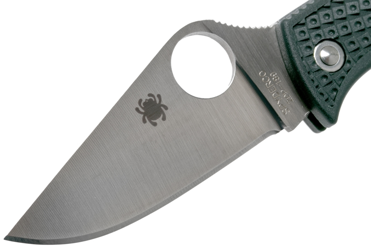 Фото 10 - Нож складной ManBug Spyderco MGREP, сталь ZDP-189 Satin Plain, рукоять термопластик FRN, (British Racing Green) зелёный
