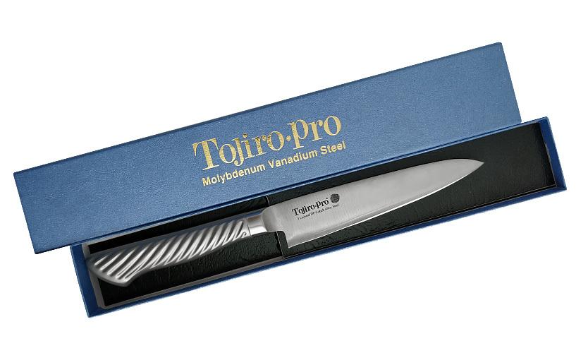 Фото 3 - Нож Универсальный Tojiro PRO, F-883, сталь VG-10, серый