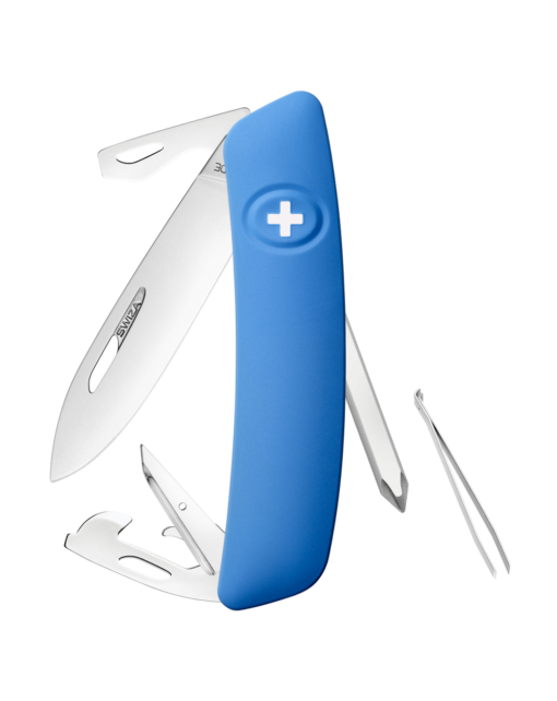 Швейцарский нож SWIZA D04 Standard, сталь 440, 95 мм, 11 функций, синий