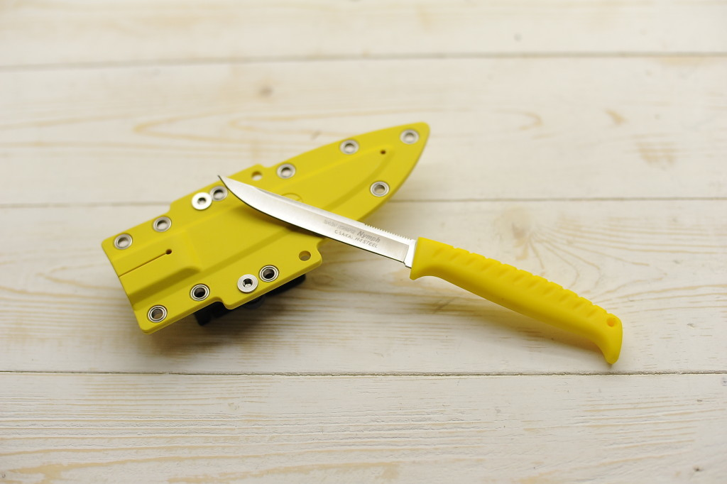Нож рыболовный G.Sakai Sabi Knife Nymph GS-11485, сталь H1, кратон, желтый