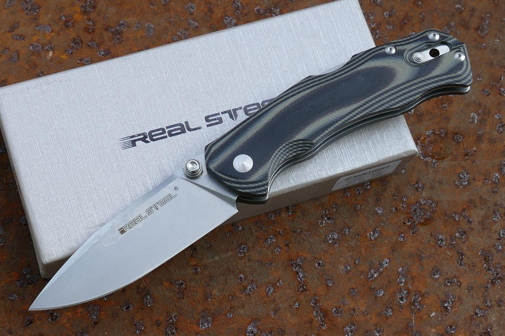 Фото 7 - Нож складной H7 Snow Leopard, Black/Gray G10 от Realsteel