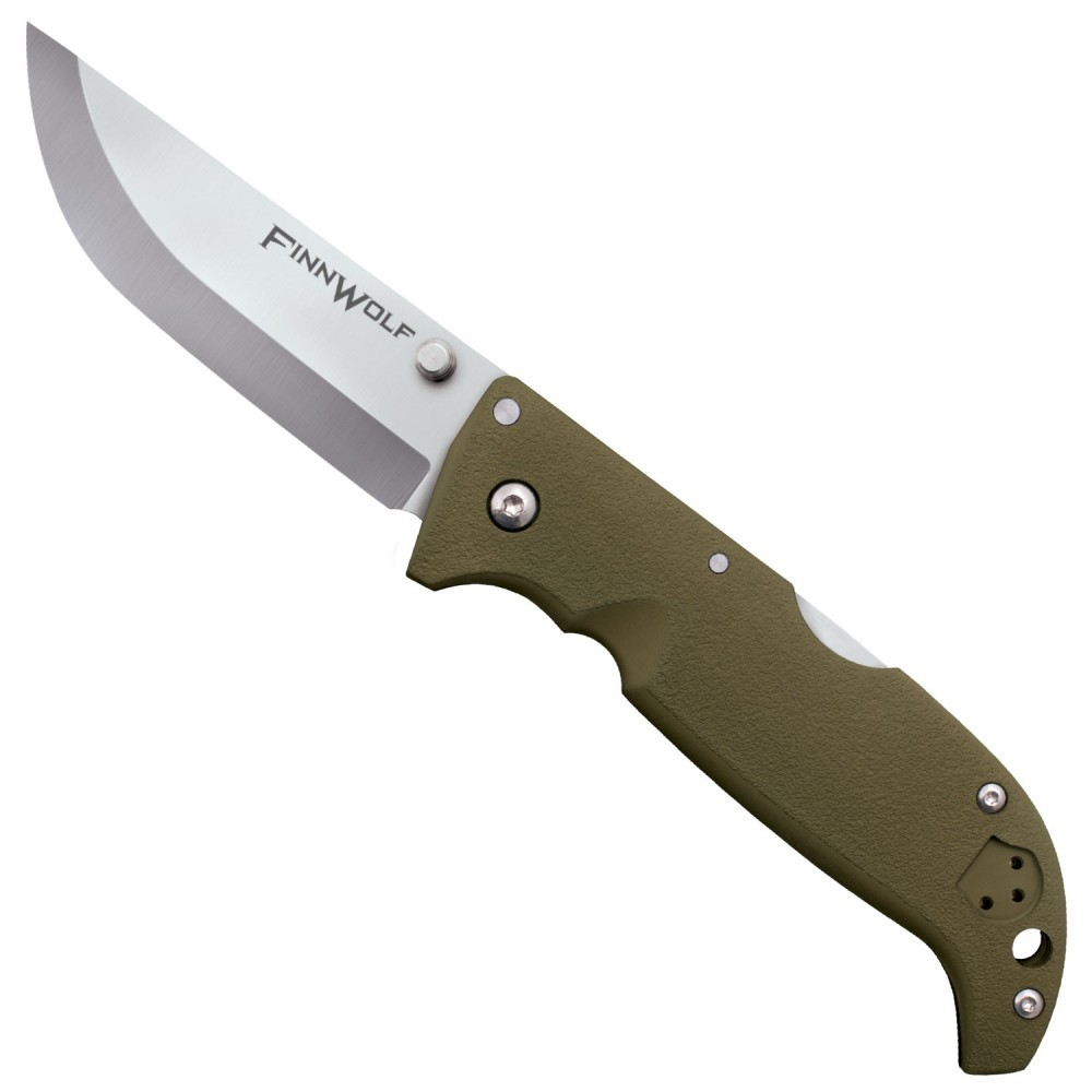Складной нож Finn Wolf - Cold Steel 20NPF, сталь AUS 8A, рукоять Griv-Ex™ (высококачественный пластик), Зеленый