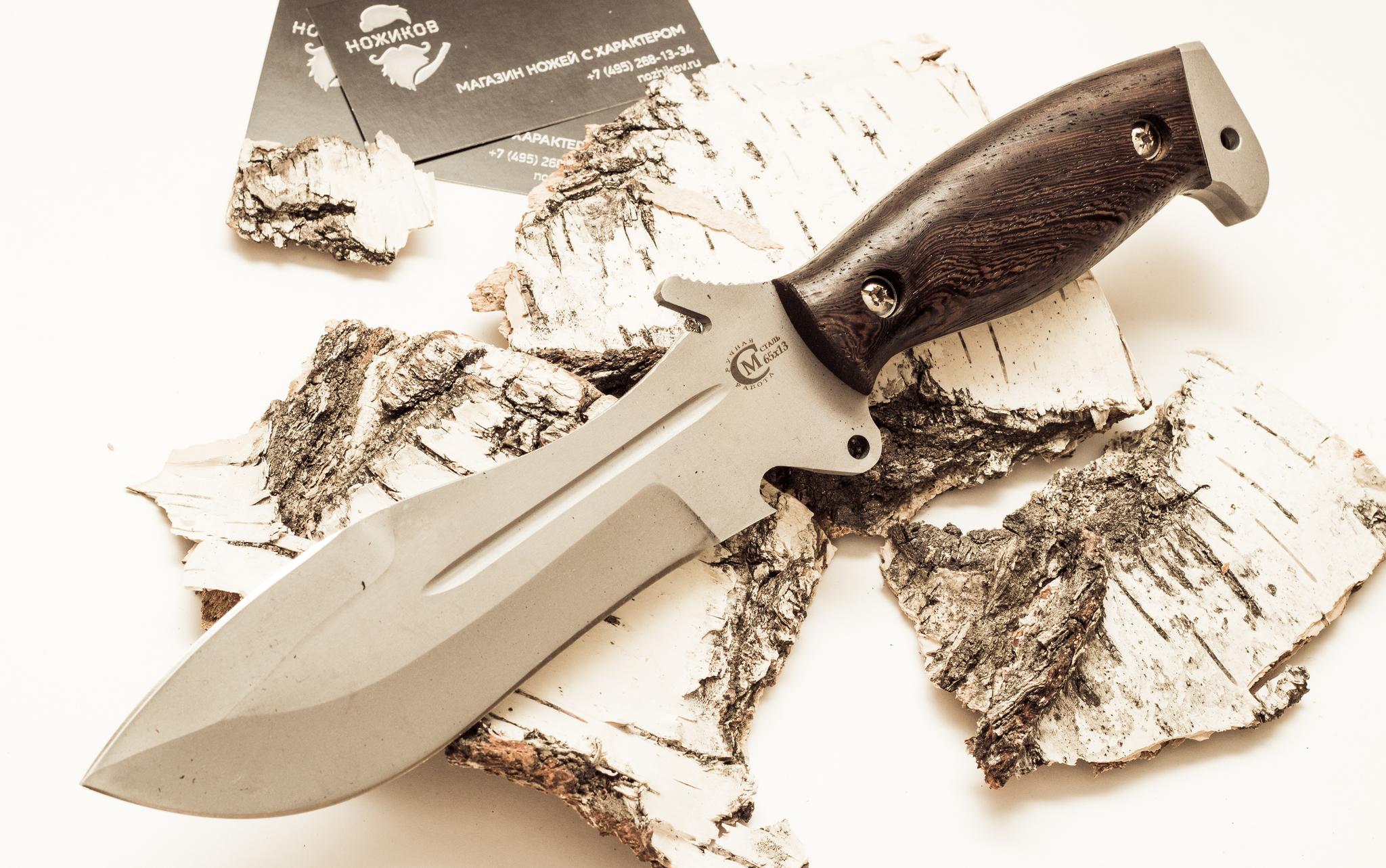 Фото 9 - Нож для выживания «Кобра» из нержавеющей стали 65х13 от Кузница Семина