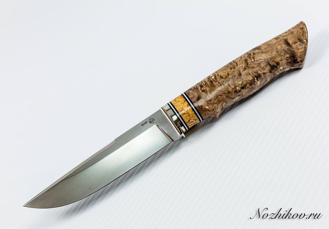 купить Нож Рабочий N56 из порошковой стали Bohler M390 по цене 11990 рублей