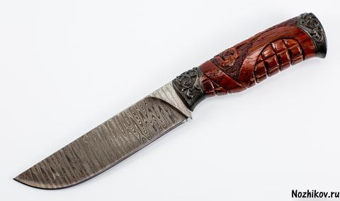 Авторский Нож из Дамаска №9, Кизляр - Nozhikov.ru