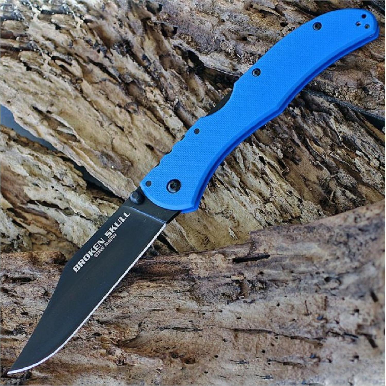 Фото 4 - Складной нож Broken Skull 4 (Blue) - Cold Steel 54SBLU, сталь CTS® XHP Alloy, рукоять G10