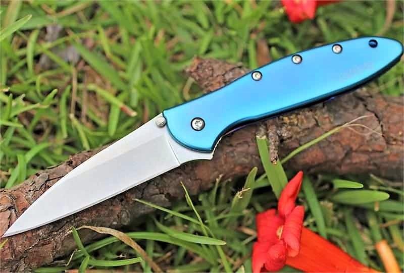 Фото 11 - Складной нож Leek - Kershaw 1660TEAL, сталь Sandvik™ 14C28N, рукоять анодированный алюминий бирюзового цвета