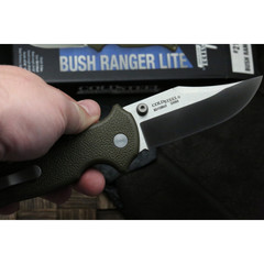 Складной нож Bush Ranger Lite - Cold Steel 21A, клинок из стали 8Cr13MoV, рукоять GFN (пластик) зеленая, фото 2