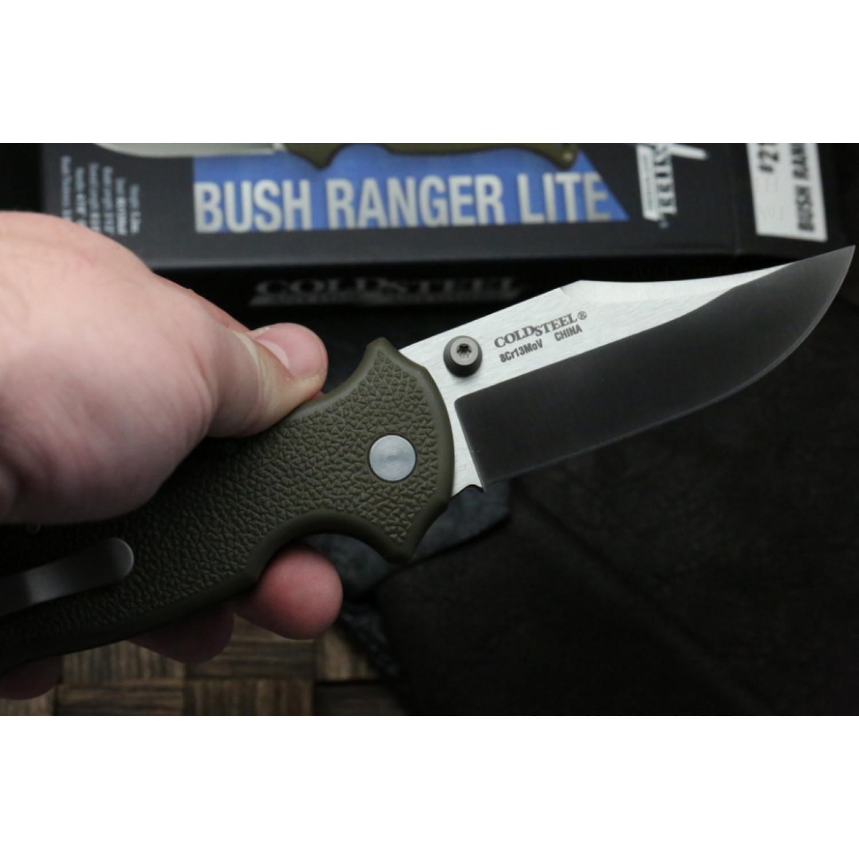 Фото 3 - Складной нож Bush Ranger Lite - Cold Steel 21A, клинок из стали 8Cr13MoV, рукоять GFN (пластик) зеленая