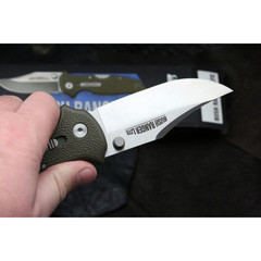 Складной нож Bush Ranger Lite - Cold Steel 21A, клинок из стали 8Cr13MoV, рукоять GFN (пластик) зеленая, фото 3