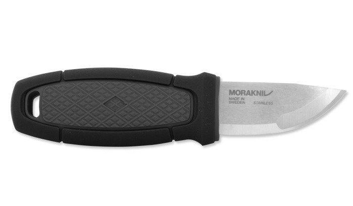 Фото 8 - Нож с фиксированным лезвием Morakniv Eldris, сталь Sandvik 12С27, рукоять пластик, черный