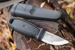 Нож с фиксированным лезвием Morakniv Eldris, сталь Sandvik 12С27, рукоять пластик, черный, фото 6