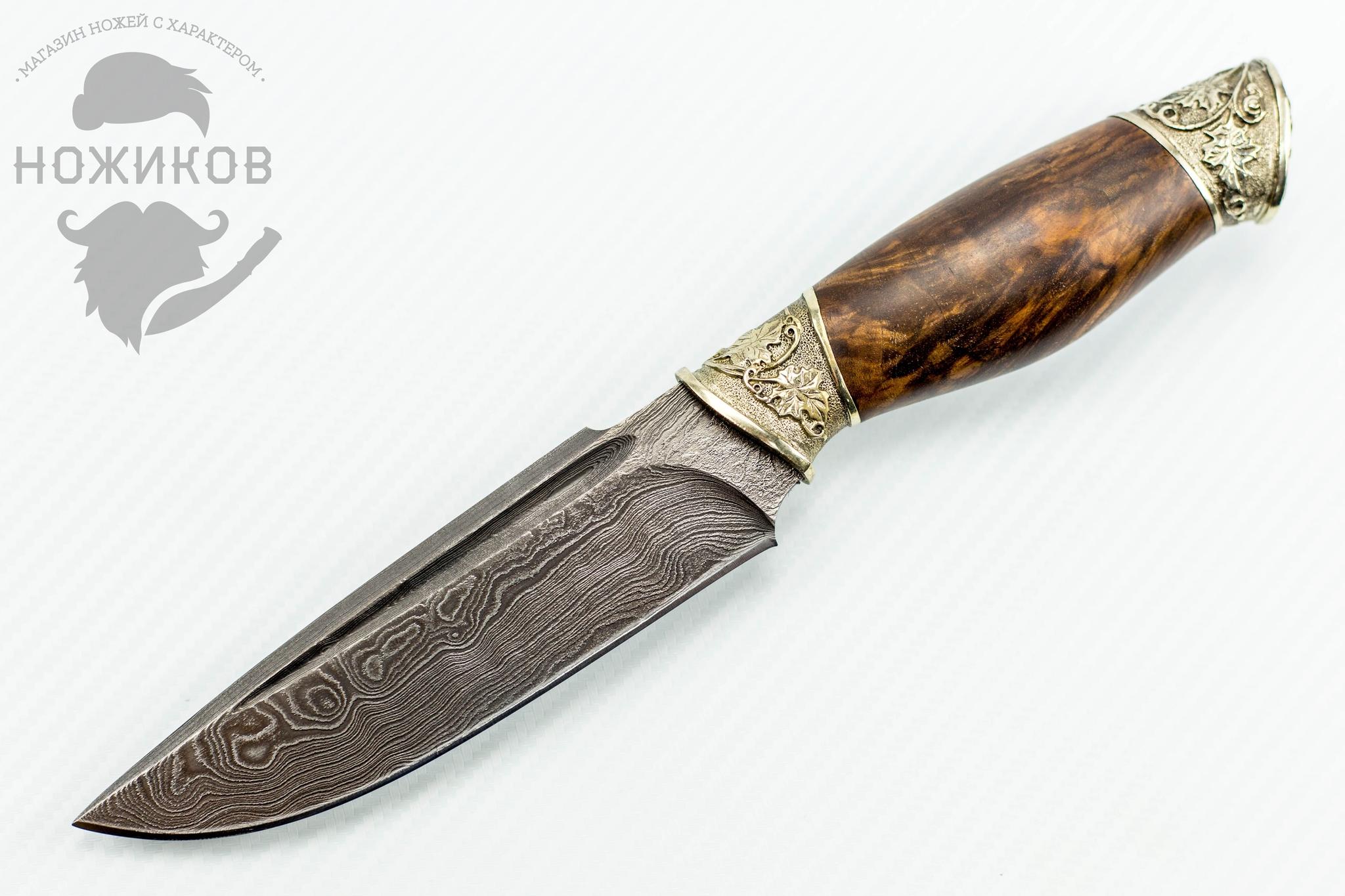Авторский Нож из Дамаска №84, Кизляр