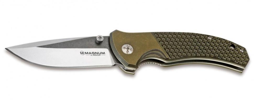Фото 2 - Нож складной Boker Magnum Three Dimensions, сталь 440A 2-Tone Stonewash Plain, рукоять стеклотекстолит G10, 01MB717